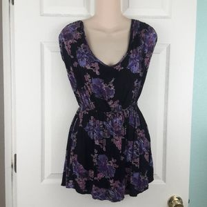 Free People Purple Floral Dress Size Small